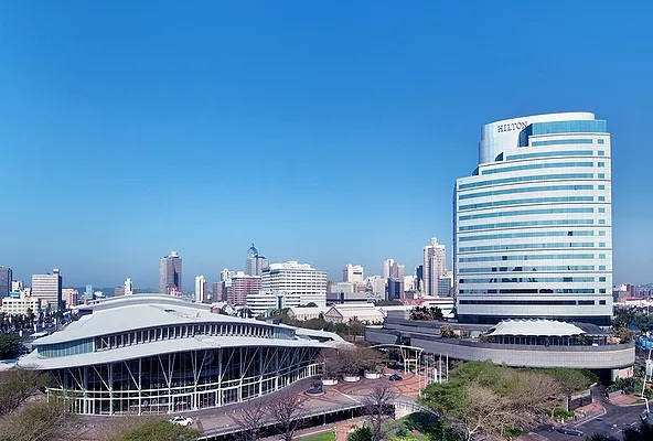 The Durban International Convention Center and Durban Exhibition Center can function as one combined island site.