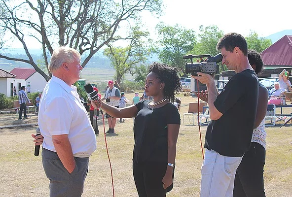 NomadTV crew interviewing one of the organizing officials of the 2015 Talana live event.