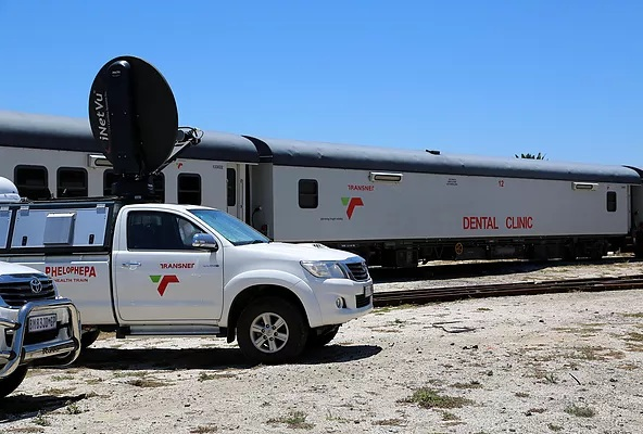 The two Transnet Phelophepa Healthcare trains are fully fitted with advanced technologies and expert healthcare, making affordable, accessible healthcare a reality for thousands that otherwise would not be able to receive these services.