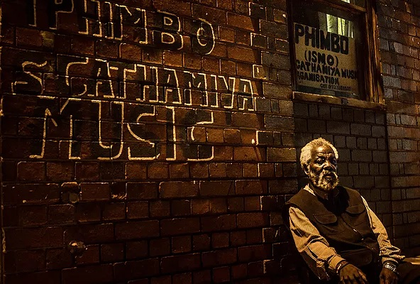Simon Ngubane, owner of Iphimbo music. His son, Msa Xokelelo operates from the Noord Street. Msa is a South African iconic artist that has made the urban scent of Johannesburg his trademark, encapsulated in his paintings and drawings.