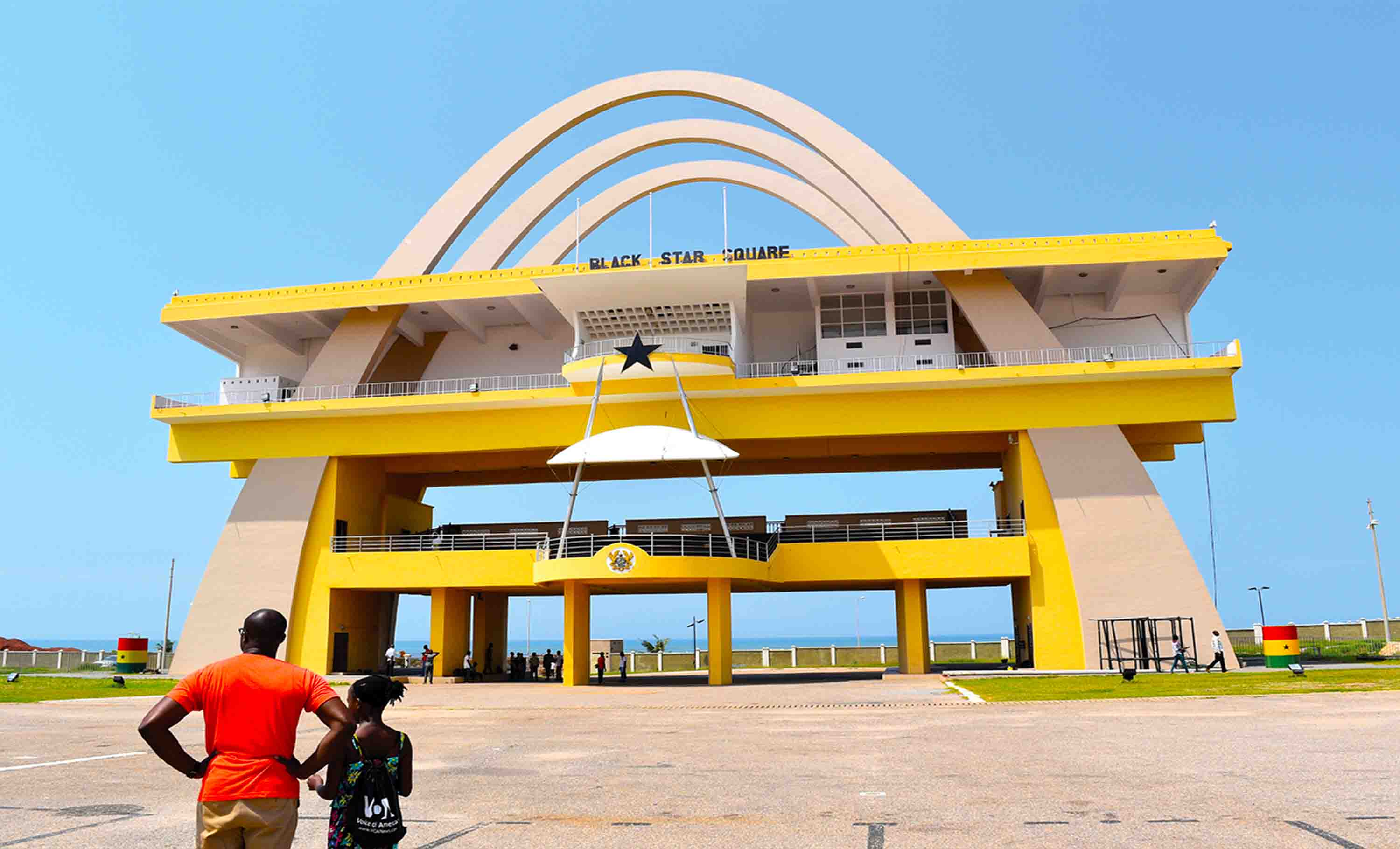 The Independence Square aka Black Star Square in Accra, Ghana. It is the second-largest city square in the world after Tiananmen Square in China.