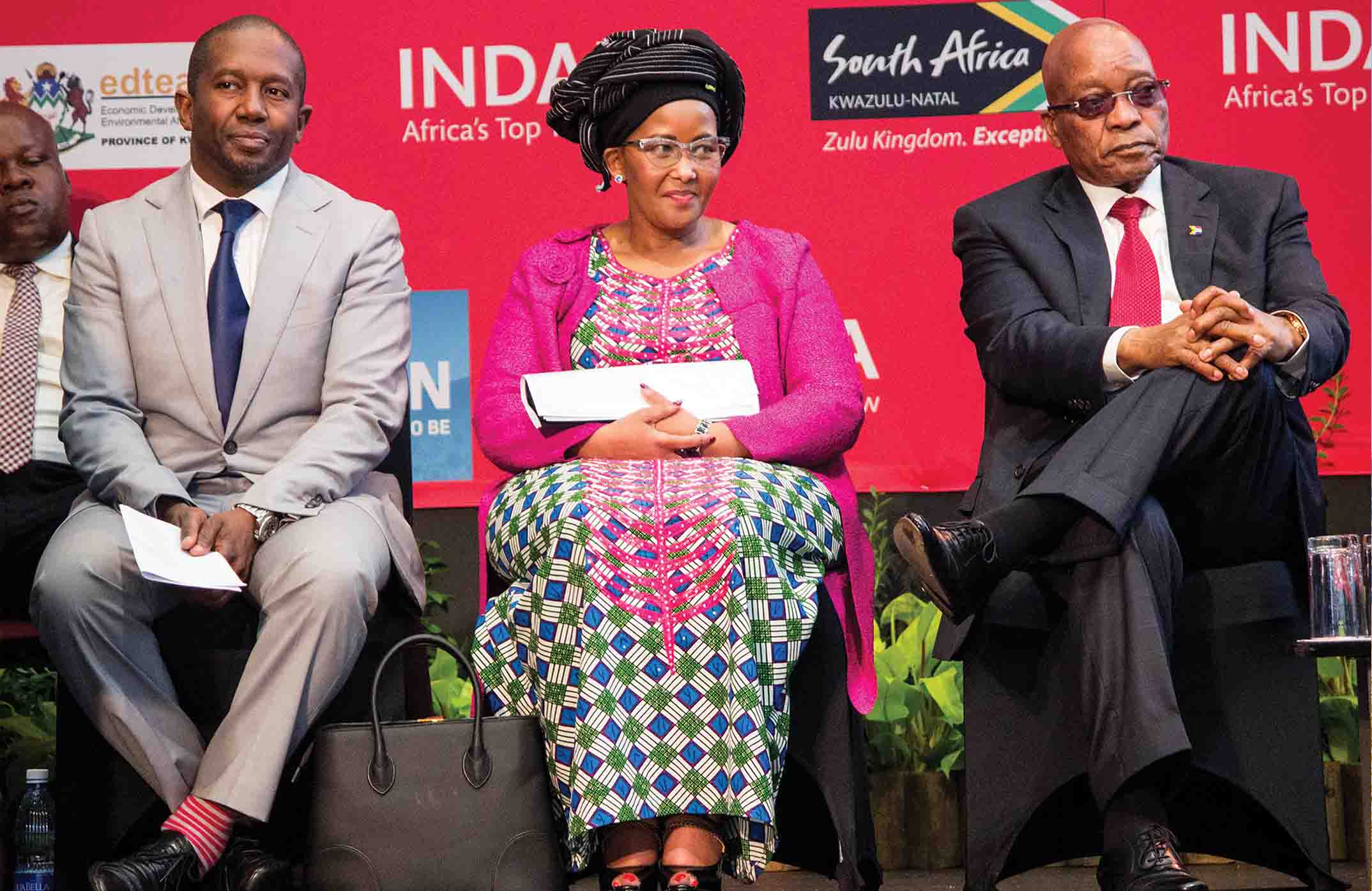 Above: The CEO of South African Tourism Mr Sisa Ntshona, Minister of Tourism Ms Thokozile Xasa and the President of South Africa Mr Jacob Zuma at the Tourism Indaba in Durban, South Africa recently. The platform was used to launch I Do Tourism (IDT) – an initiative that seeks to remind South Africans of the importance of the tourism industry and the role they can play as advocates for South Africa and for tourism.
